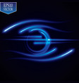 glow effect luminous ring neon lights cosmic vector image