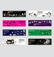 horizontal carnival web banner masks celebration vector image