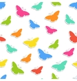 Seamless background with butterflies vector image