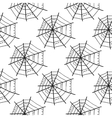 Seamless pattern with doodle spiderwebs vector image