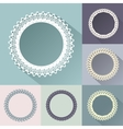 Set of round vintage frames vector image
