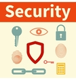 Web security set of icons vector image