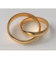 Wedding rings vector image
