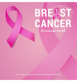 National Breast cancer awareness month background vector image vector image