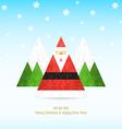 Triangular santa claus christmas celebration vector image