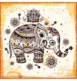 Beautiful ethnic elephant vector image