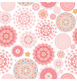 cute seamless texture with graceful arabesques vector image