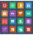 Cowboy pictograms wild west icons vector image