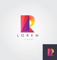 letter R colorful design element vector image