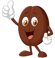 Coffee bean giving thumbs up vector image