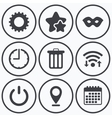 Anonymous mask and gear signs Recycle bin icon vector image