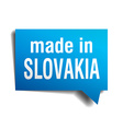 made in Slovakia blue 3d realistic speech bubble vector image