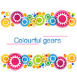 abstract background of bright colored gears and vector image