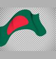 bangladesh flag on transparent background vector image