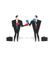 Boxing businessman Managers are boxing Office vector image
