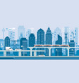 cityscape with infrastructure and transportation vector image