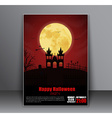 Design a poster flyers cover for Halloween vector image