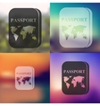 passport icon on blurred background vector image