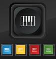 piano key icon symbol Set of five colorful stylish vector image