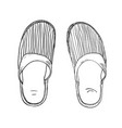 sketch of slippers vector image