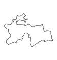 tajikistan map of black contour curves on white vector image