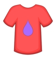 Printing on t-shirt icon cartoon style vector image