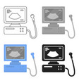 ultrasound diagnostic icon in cartoon style vector image