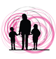 Mom son and daughter vector image vector image