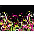 fluorescent nature vector image