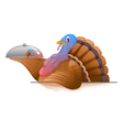 Turkey with Metal Tray vector image