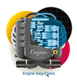 Engine Diagnostic vector image vector image