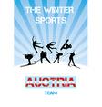 The winter sports Austria team vector image