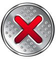 industrial x or close icon vector image vector image
