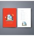 Modern cards design template vector image