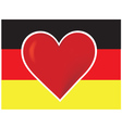 heart germany flag vector image vector image