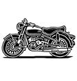 Retro motorcycle vector image