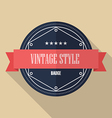Vintage retro flat badge vector image