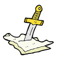 comic cartoon dagger in maps vector image