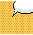 pop art comic speech bubble vector image