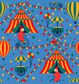 seamless circus vector image