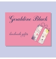 Vintage business card for handmade gifts maker vector image vector image
