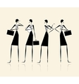 Business ladies silhouette for your design vector image