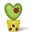 cactus heart vector image vector image