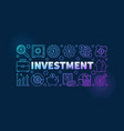 financial investment vector image