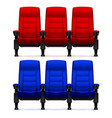 cinema empty comfortable chairs realistic movie vector image