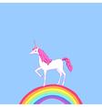 unicorn rainbow vector image