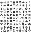 set of 100 general various icons for your use vector image