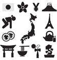 Set of Japan Symbol Icons vector image