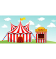 Circus tent and ticket booth vector image