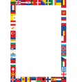 frame made of flags vector image vector image